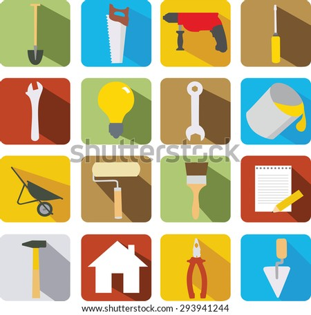 vector image of building icons - stock vector