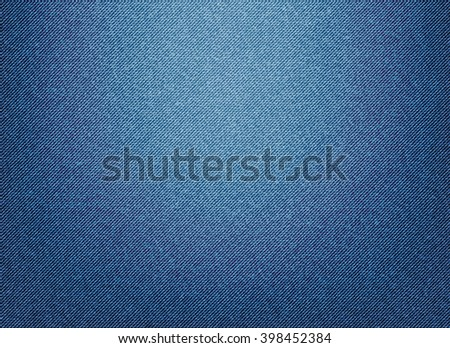 Vector image of classic denim texture blue. - stock vector