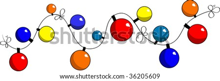 Vector image of colored festive lights