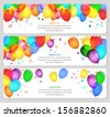 vector image of event banners with colorful balloons - stock photo
