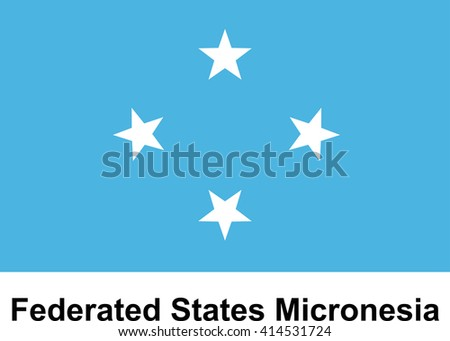 Vector image of flag Federated States Micronesia - stock vector