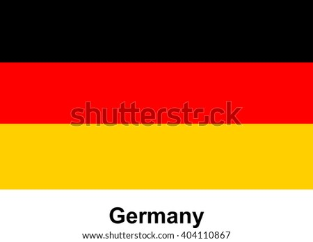 vector image of flag Germany