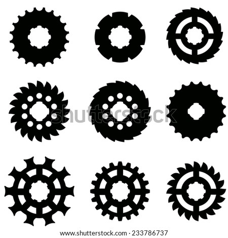 Vector image of gears on a white background.