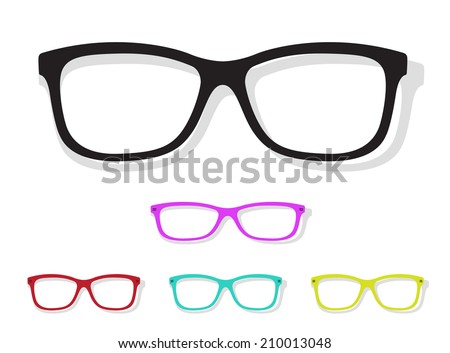 Vector image of Glasses on white background. - stock vector