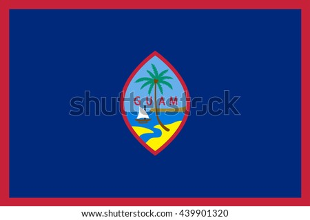 Vector image of Guam flag. Proportion 2:3. EPS10. - stock vector