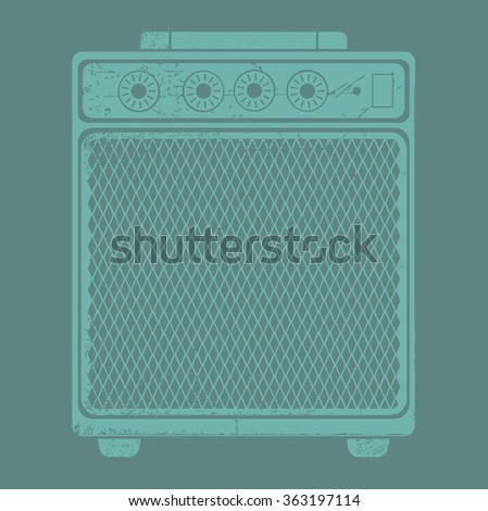 Vector image of guitar amplifier