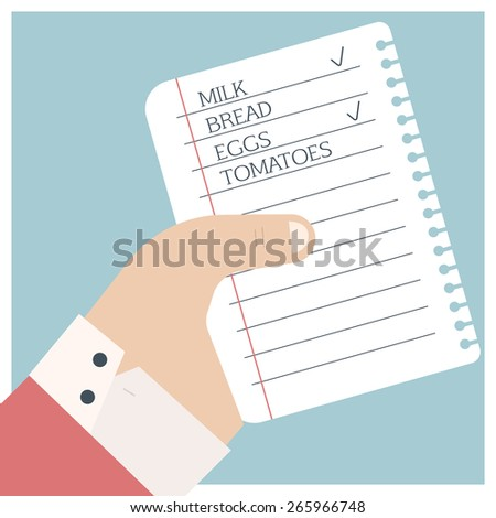 Shopping List Stock Images, Royalty-Free Images & Vectors