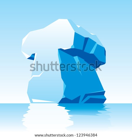 vector image of ice letter T - stock vector