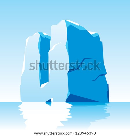 vector image of ice letter U - stock vector