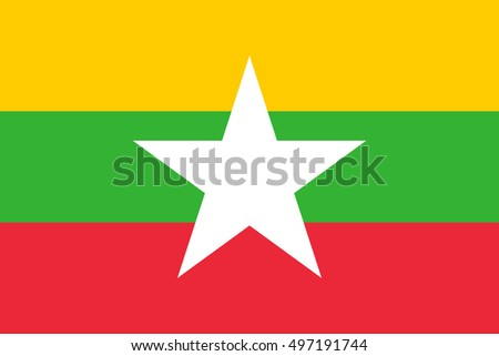 vector image of Myanmar flag