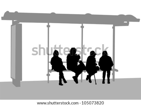 Bus Stop ad Vector a Bus Stop Stock Vector