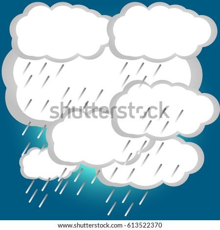 vector image of storm weather