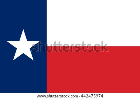 Vector image of Texas State flag.  Proportion2:3. EPS10. - stock vector