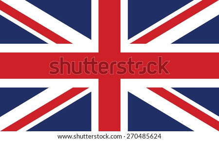 Vector Image of The British Flag - stock vector