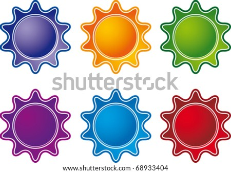 vector image of the labels on products - stock vector