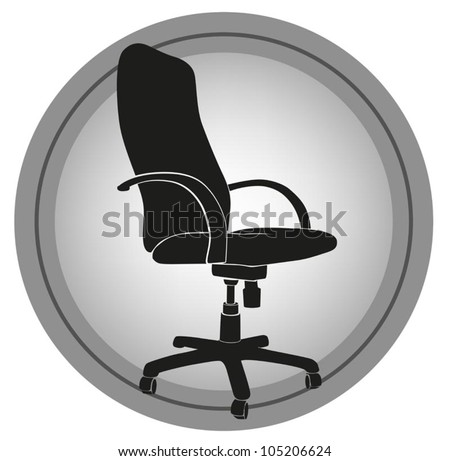 vector image office chair - stock vector