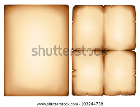 Vector image old yellowing of paper