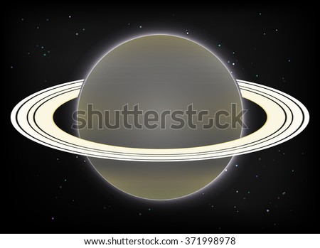 Vector image Saturn planet