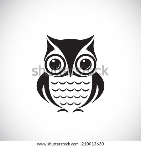 Vector images of owl on a white background. - stock vector