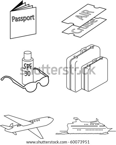 vector images of travel necessities - stock vector
