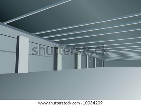 vector indastrial hall - stock vector