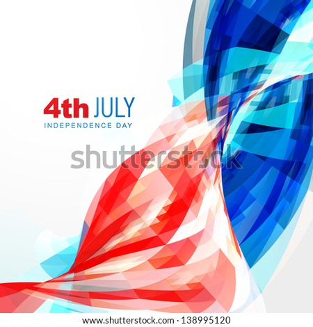 vector independence day of america - stock vector