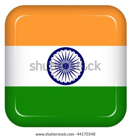 Vector india flag - stock vector