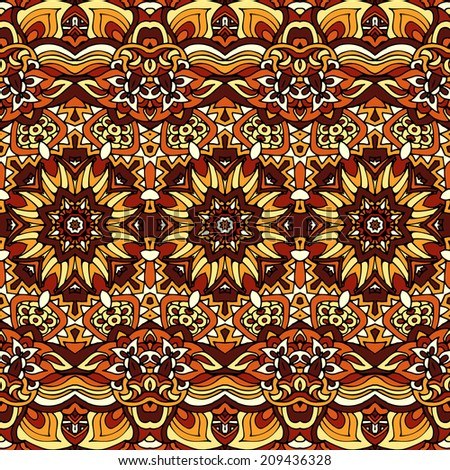 Vector indian autumn seamless pattern ethnic
