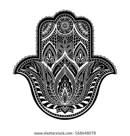 Vector Hamsa Hand Drawn Symbol Stock Vector 376026136 ...