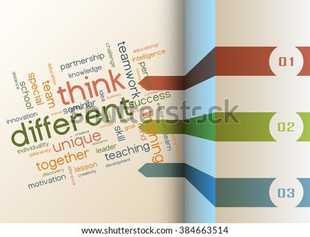 Vector info-graphic template - Think different as a concept  - stock vector