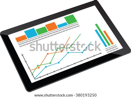 Vector Info graphics on the tablet - stock vector