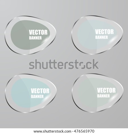 Vector infographic. banners set.Glass