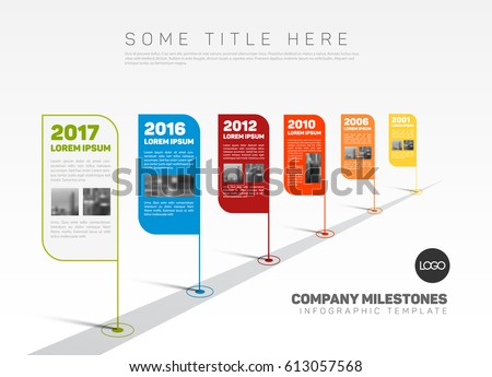 Retro Timeline Stock Images, Royalty-Free Images & Vectors