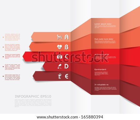 Vector infographic composition with medic icons. - stock vector