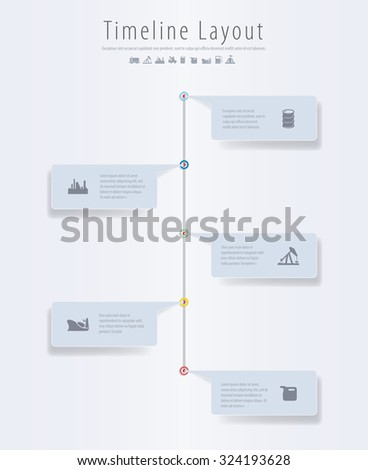 Vector infographic composition with oil industry icons. - stock vector