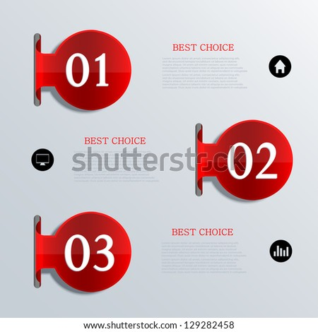 Vector infographic design. Eps10 - stock vector