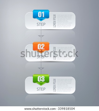 Vector infographic design template  - stock vector