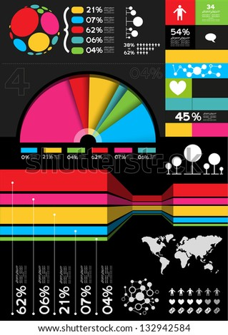 Vector Infographic Elements, charts and information layouts. - stock vector
