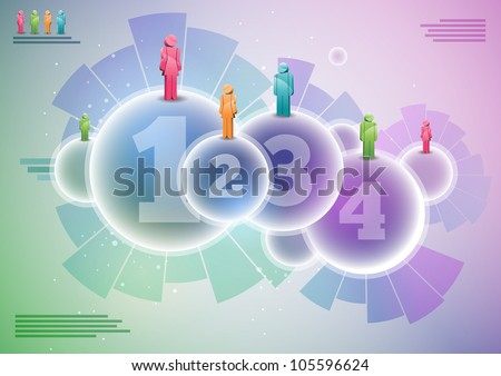 Vector infographic elements. Elements are layered separately in vector file. - stock vector