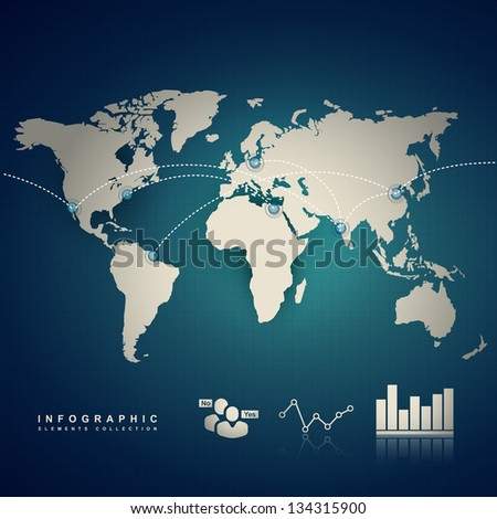 vector infographic of earth and other elements - stock vector