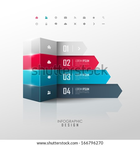 Vector infographic or web design template - stock vector