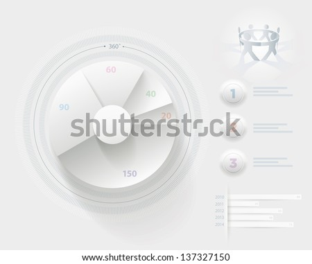 Vector infographic presentation design template. Elements are layered separately in vector file. Easy editable. - stock vector