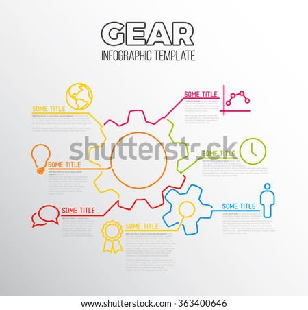 Vector Infographic Report Template Made Lines Stock Vector ...
