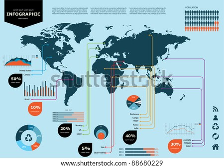 Vector infographic set. Eps 10 - stock vector