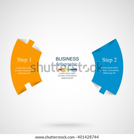 Vector infographic. Template for diagram, graph, presentation and chart. Business concept with 2 options, parts, steps or processes.  - stock vector