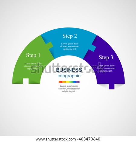 Vector infographic. Template for diagram, graph, presentation and chart. Business concept with 3 options, parts, steps or processes.  - stock vector