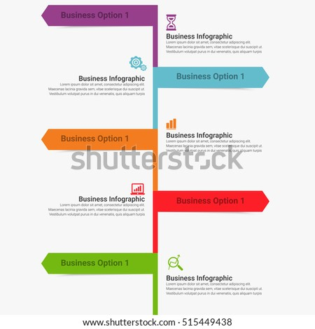 Vector infographic. Template for diagram, graph, presentation and chart. Business concept with seven options, parts, steps or processes. Abstract background.