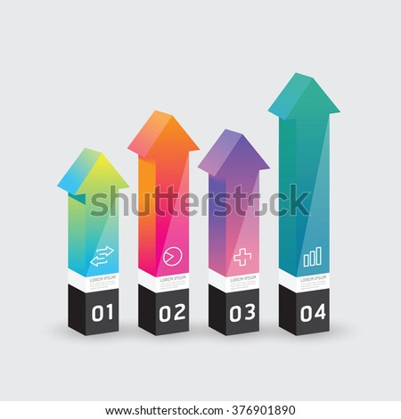 Vector infographic template Modern arrow box Design Minimal style / can be used for infographics / numbered banners  / graphic or website layout vector - stock vector