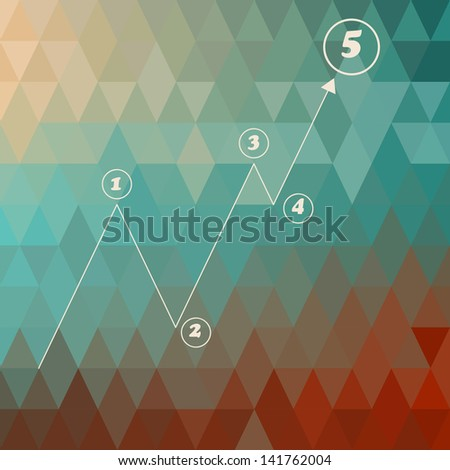 vector infographic template   on geometric background, - stock vector