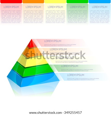 Vector infographic, template. Pyramid.